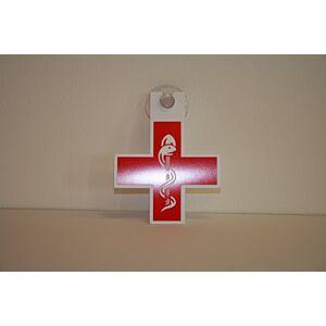 Dokterskruis rood - met zuignap