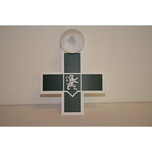 Kruis verpleegkundige groen - met zuignap