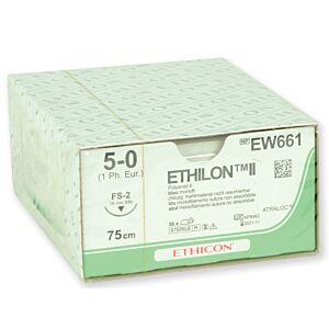 Ethilon 5/0 - 45cm - naald 16mm - per 12 stuks